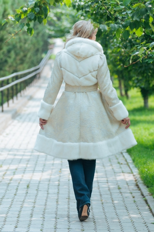Пальто с жаккардом